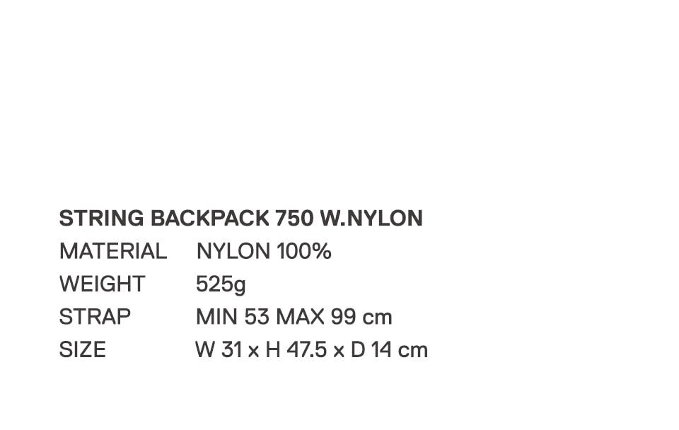 로우로우(RAWROW) STRING BACKPACK 750 CHARCOAL